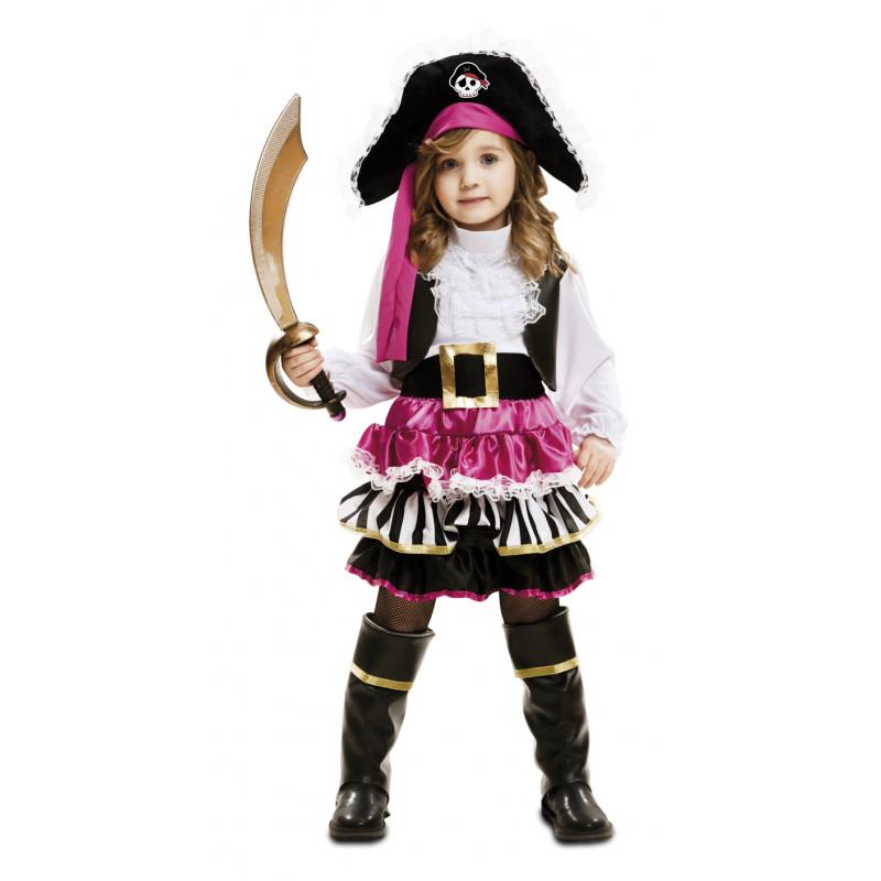 2f6861bba3 Disfraz de Pirata para Niña en Rosa