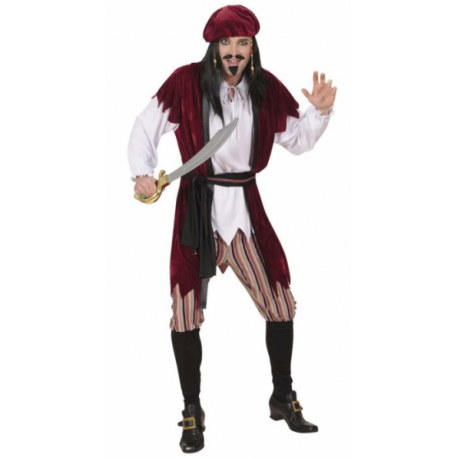 Disfraz de Pirata Caribeño XL
