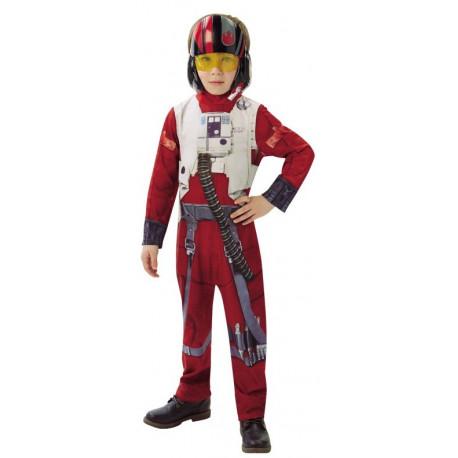 Disfraz de piloto Poe Dameron para Niño