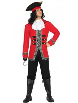 Disfraz de Pirata Rojo para hombre