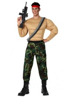 Disfraz de Rambo Musculoso