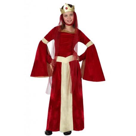 Disfraz de Niña Princesa Medieval