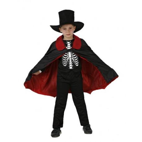 Disfraz de Esqueleto con Capa