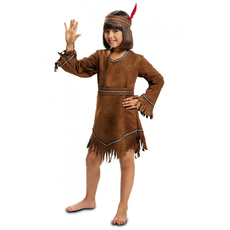 Disfraz De India Apache Para Nina Comprar Online - Disfraz-india-americana