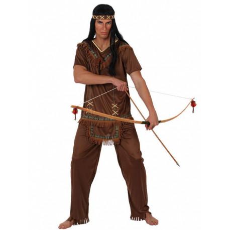 Disfraz de Indio Marron con flecos