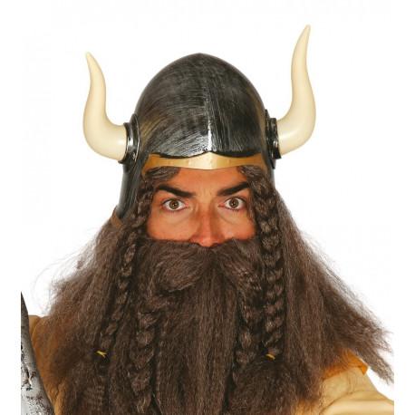 Disfraz de Casco Vikingo envejecido