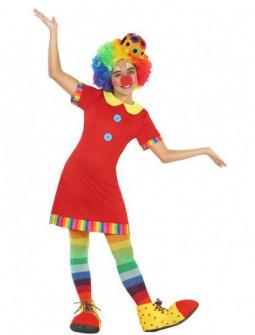 Disfraz de Payasita Roja para Niña