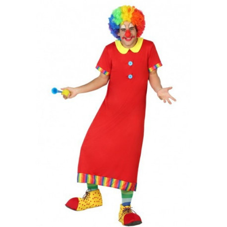 Disfraz de Payaso Rojo para hombre