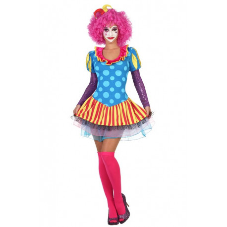 Disfraz de Mujer Payasa Colorida
