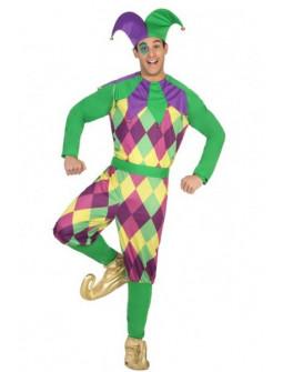 Disfraz e Bufón multicolor para hombre