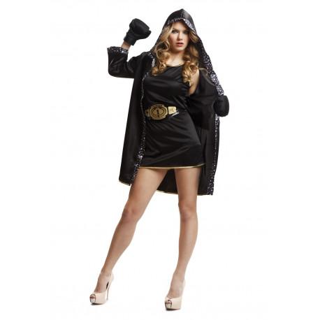 Disfraz de Boxeadora Negro