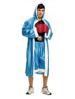 Disfraz de Boxeador Azul para Hombre