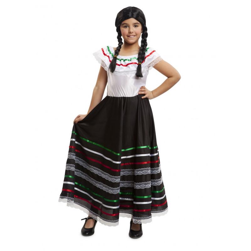 Disfraz De Mexicana Largo Para Ni 241 A Comprar Online