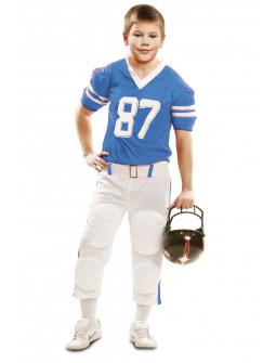 Disfraz de Jugador de Rugby Azul para Niño