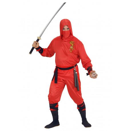 Disfraz de Dragon Ninja Rojo para adulto