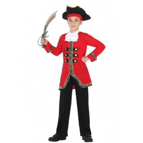 Disfraz de Bucanero en rojo para niño
