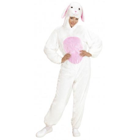 Disfraz de Conejo Blanco y Rosa para Adulto