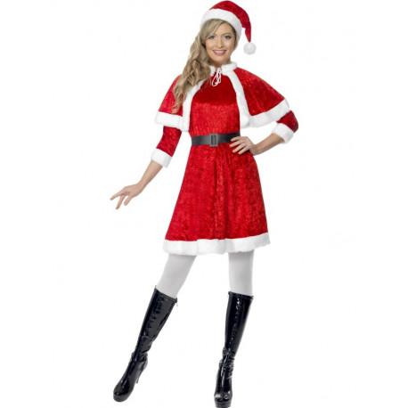Disfraz de Mamá Noel con Capa para Mujer