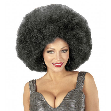 Peluca Super Afro Morena