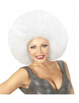 Peluca Super Afro Blanca