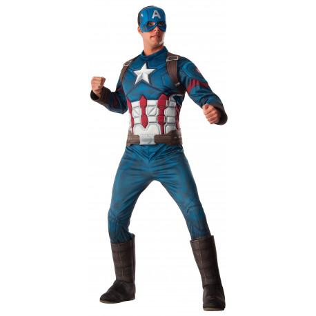 Disfraz de Capitán América Premium para Adulto