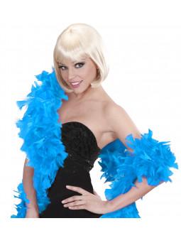 Boa de plumas Azul Celeste
