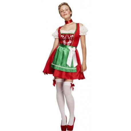 Disfraz de Alemana en Rojo