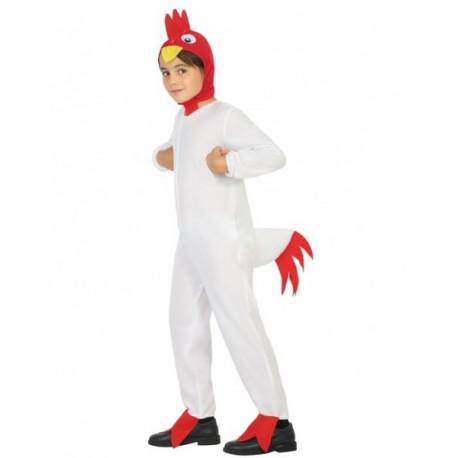 Disfraz de Gallo Blanco para Niño