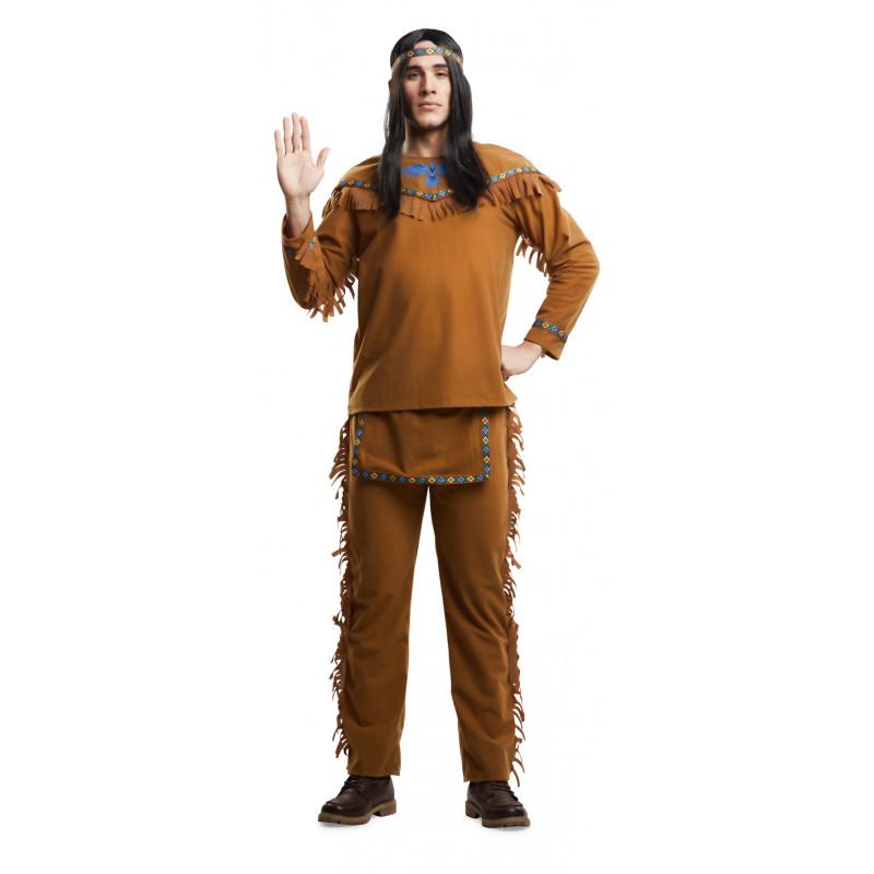 Disfraz De Indio Americano Para Hombre Comprar Online - Disfraz-india-americana