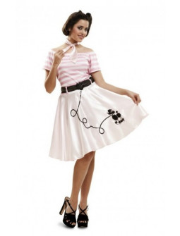 Disfraz de Pink Lady para mujer