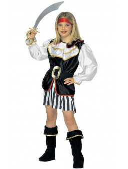 Disfraz de Pirata a rayas para Niña