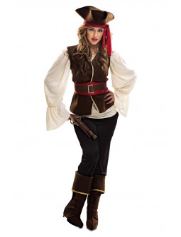 Disfraz de Pirata Bucanera para mujer