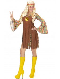 Disfraz de Hippie con colgante