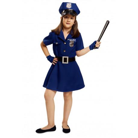 Disfraz de Policia para Niña Azul