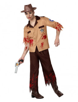Disfraz de plicia Zombi - The Walking Dead -