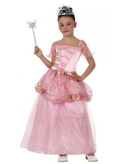 Princesa de niña en rosa
