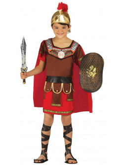Disfraz de Romano con casco para niño