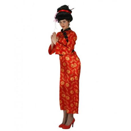 Vestido de China Rojo