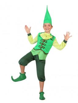 Disfraz de Niño Duende Verde