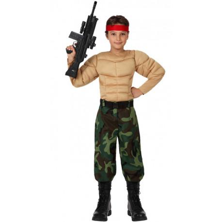 Disfraz Rambo con musculos