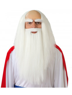 Peluca con Barba de Druida Panoramix