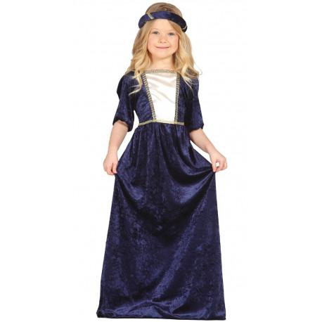Dama Medieval de terciopelo para niña