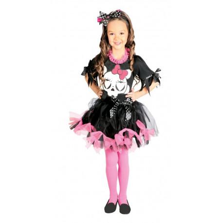 Disfraz de esqueleto para niña