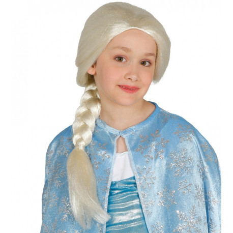 Peluca de Elsa para Niñas