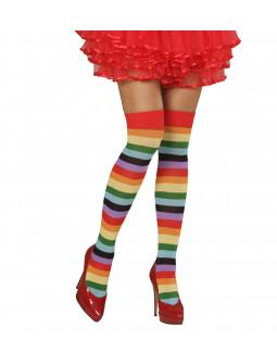 Calzas de Rayas de Colores Adulto