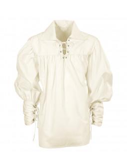Camisa Medieval Blanco Natural para Hombre