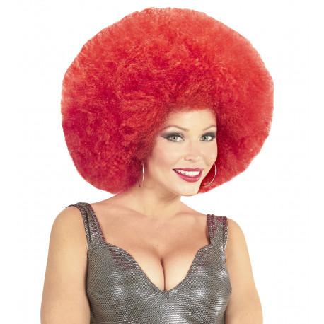 Peluca Super Afro Roja