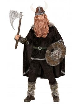 Disfraz Vikingo Nórdico en Negro para Hombre
