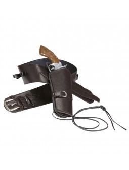 Cartuchera con cinturón marrón premium