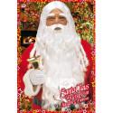 Peluca de Papa Noel con Barba y Cejas Premium
